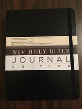 NIV Journal Edition Bible - $39.99 Retail - Black Hardcover - (Journaling Note)