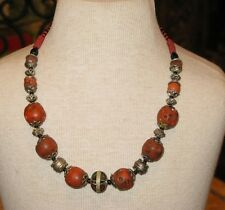 Old coral necklace -Antique coral necklace -Coral jewelry -Coral necklace -Coral