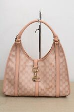 Gucci GG Imprime Crystal Joy Shoulder Bag Pink Authentic Used