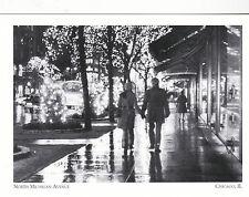 """*Postcard-""""Couple Walking on North Michigan Avenue"""" -1970's- *Chicago IL (#127)"""
