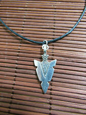 A New Wax Cord Tibetan Silver Native American Style Arrow Charm Pendant Necklace