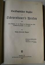 Arthur Schopenhauer, Schopenhauer Werke Register, Philosophie, Schopenhauer,