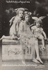 Children Cupid Bow & Arrow Costumes Fairies 1909 Bath Pageant Old RPC Postcard
