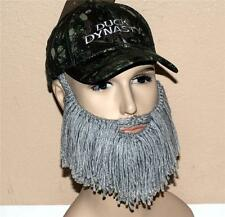 DUCK DYNASTY A & E TV Network Show Si Robertson Camo BEANIE CAP with BEARD New