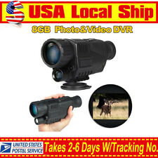 US! 5x40 Infrared IR LCD Monocular Zoom Night Vision Camera Video Photo DVR 8G