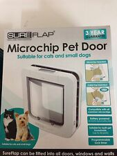 Genuine sureflap microchip pet porte grand catflap petit chien gros chats blanc