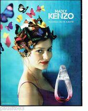 PUBLICITE ADVERTISING 106  2012  nouvelle eau toilette Madly  par Kenzo