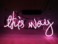 """""""This Way"""" Artwork Store Beer Bar Home Handcrafted Vintage Neon Light Sign TN049"""