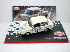COCHE TRABANT 601S RALLY MONTECARLO DE FRESQUET METAL MODEL  IXO  CAR RALLIE