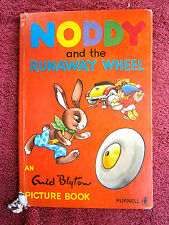 1971 EDITION  NODDY  AND  THE  RUNAWAY WHEEL    AN ENID BLYTON  PICTURE BOOK