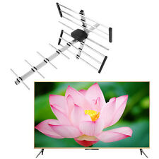 100 MILES 1080P HDTV OUTDOOR AMPLIFIED ANTENNA HD TV DIRECTIONAL UHF/VHF/FM MT