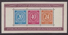 1946 GERMANY DEUTSCHE POST MINIATURE SHEET MNH SG MS925a  PERFORATED ALLIED OCC