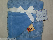 NIGHT BABY BLANKET BLUE CURLY FAUX FUR SWIRLS PLUSH BOY GIRL NEW ALL PURPOSE