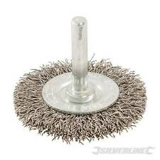 Rotary Wire Wheel Brush 50mm Crimped steel wire wheels for cleaning stone, metal
