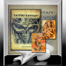 "Tattoovorlagen  Flash  Book "" TATTOO FANTASY "" Tattoo Sketchbook Stecil Buch"