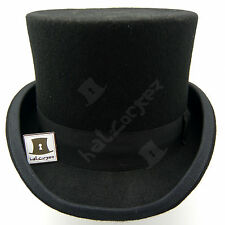 Wool Felt Tuxedo Topper Top Hat Men | 57cm | Black | VINTAGE x QUALITY x FORMAL