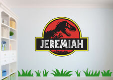 Personalized Jurassic Park, Dinosaur Wall Decal