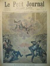 ANICHE BOMBE ATTENTAT ANARCHISTE ESPAGNE TAUREAU TRAIN LE PETIT JOURNAL 1895