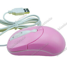 Mini Cute Optical Mouse Mice for Girl & Kids for Laptop PC Pink A