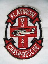 INSIGNE US ARMY FORT RUCKER :  FLATIRON CRASH-RESCUE MAST PATCH / HELICOPTERE