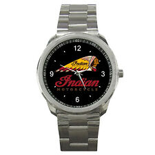 Indian Motorcycle Logo Metal Sport Watch With No T Shirt