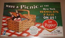 1964 Dr. Pepper New York Worlds Fair Poster Ford Comet Caliente MINT