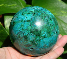 "75 mm (2.95"") AAA Large CHRYSOCOLLA in MALACHITE Geode Crystal Sphere Ball Peru"