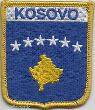 Kosovo Flag Shield Embroidered Patch Badge