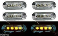 6x 4 LED Lateral ámbar Bisel Cromado Luz De Señalización para Camiones Autobuses