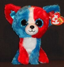 """TY BEANIE BOOS - VALOR the 6""""  DOG -  MINT TAGS - CRACKER BARREL EXCLUSIVE"""