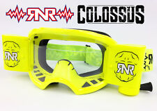 2016 RIP N ROLL RNR COLOSSUS WVS XXL MOTOCROSS MX ROLL-OFF GOGGLE NEON YELLOW