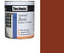 PEINTURE SPECIAL BOIS 0.5 L TECHNIC ROUGE BASQUE  MICROPOREUX longue durée