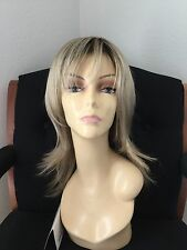 JON RENAU Long Layered Open Cap Wig, Blonde with darker roots 12FS8, Average
