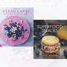 Superfood Snacks 2Books Collection Set Clean Cakes by Henrietta Inman,Julie Morr