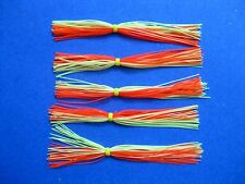 5 Silicone Skirt  5-9368 CHART/ORANGE spinner bait bass lure