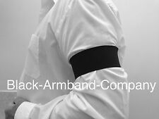 1 x Black Memorial Black Armband - Funeral, Mourning, Military, football