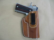 "Colt 1911 Full Size 5"" IWB Leather In The Waistband Concealed Carry Holster TAN"