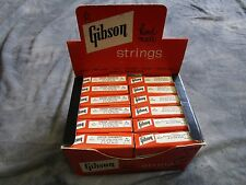 GIBSON SONOMATIC VINTAGE 50-60-s GUITAR STRINGS CLEAN BOX of 12 sets CASE CANDY
