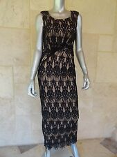 Rachael & Chloe Gorgeous Crochet Black Sleeveless Cocktail Party Dress Sz S