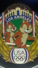 LOS  ANGELES COLISEUM 1932 OLYMPIC  CHIP & DALE  DISNEYLAND JUMBO LE 750 PIN