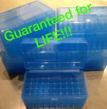 (5) 243 308 7.62x39 22-250 6mm 30 30 300 BERRYS BLUE AMMO BOX 50 ROUND MPN 409