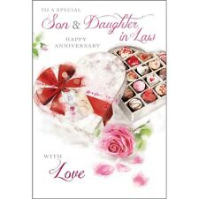 Son And Daughter In Law Anniversary Card ~ Beautiful Luxury Card ~ Lovely Verse