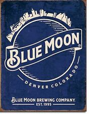 Blue Moon Brewing Company Denver, CO Sky  Metal Sign Tin New Vintage Style #2140