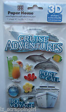 ~CRUISE ADVENTURES~ Paper House Productions 3D Stickers; Port of Call Bon Voyage
