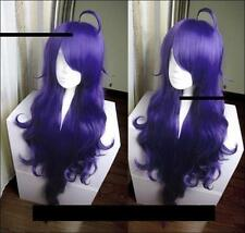 Seraph of the End Vampire Asuramaru Cosplay Purple Curly Wig 100cm