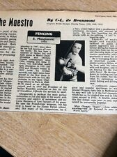 Q1-h Ephemera 1956 Articlefencing E Mangiarotti Italy