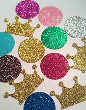 Crowns and Gems diva themed confetti birthday party favor bachelorette for table