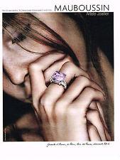 PUBLICITE ADVERTISING 075  2009  MAUBOUSSIN joaillier  série GUEULE D'AMOUR