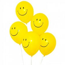 "90s Party Decorations - 10 Smiley Face Acid House Balloons - 12"" Helium Quality"