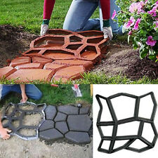 1x Garden Park Pavement Paving Mold Concrete Stepping Stone Path Walk Way Mould